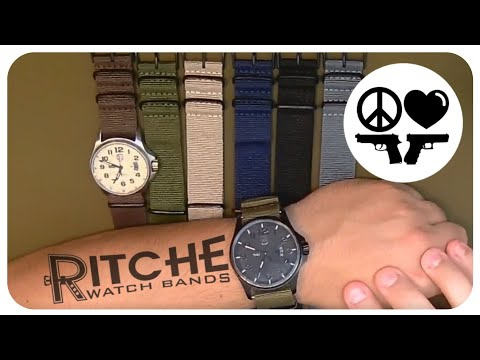 Best Band For The Buck? Ritche NATO Watch Strap Review And Install On Luminox 1827 And 1870 Watches