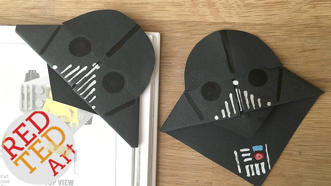 picture about Star Wars Bookmark Printable known as Simple Darth Vader Bookmarks for Fathers Working day