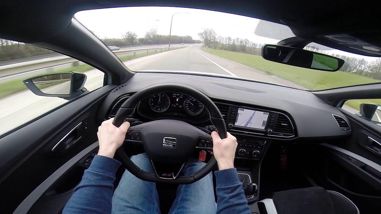 2016 Seat Leon Cupra 290hp POV test drive GoPro