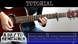 Cómo tocar If It Means Alot to You - A Day To Remember (Tutorial Guitarra) / How to play
