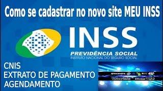 Como se cadastrar no site do INSS (MEU INSS)