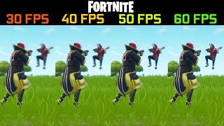 FORTNITE 30 vs 40 vs 50 vs 60 FPS ¿hay mucha diferencia?