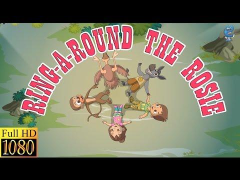 Ring-A-Round The Rosie (with lyrics)   Nursery Rhymes by EFlashApps