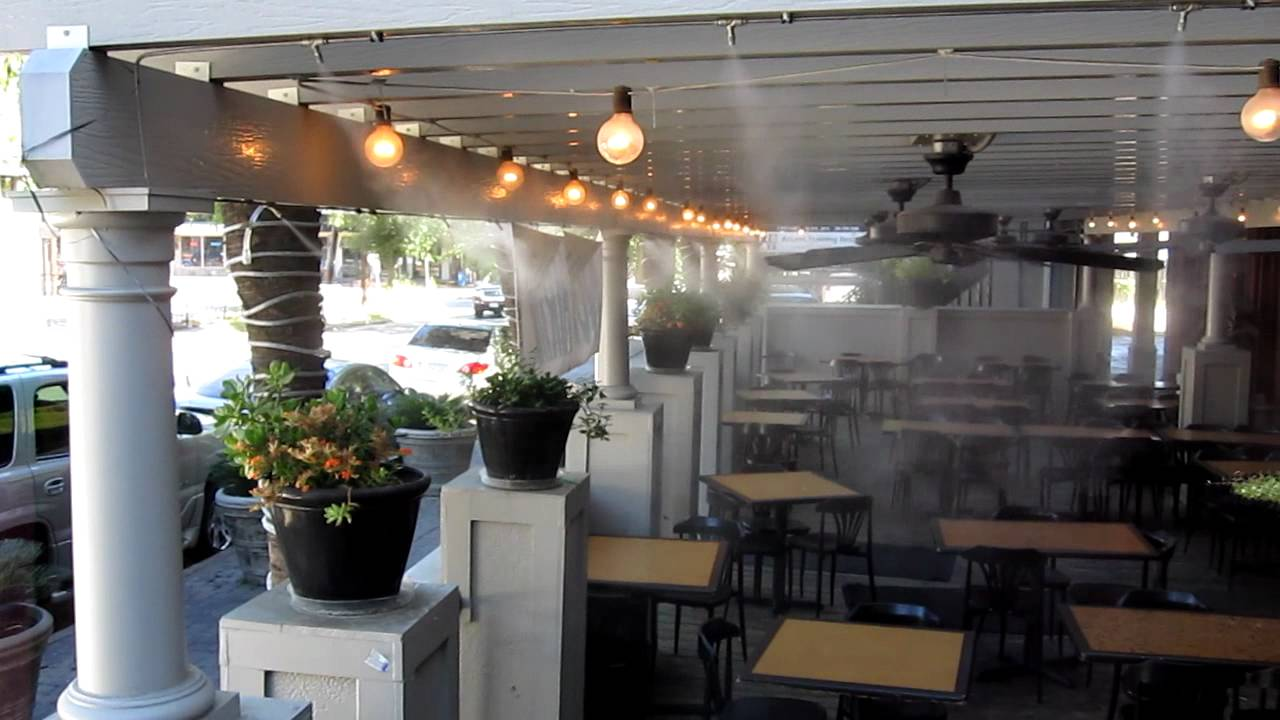 Restaurant Misting System Outdoor Patio Misting