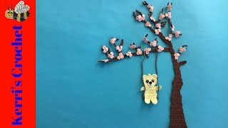 Blossoms and Swing for Tree Crochet Tutorial