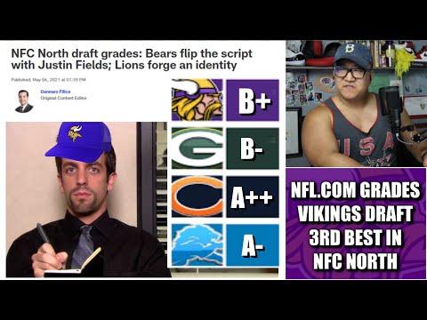 NFL.com Grades Minnesota Vikings Draft THIRD BEST in the NFC North