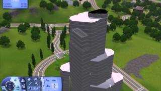 Trump Tower Chicago - How To Build Highrise / Apartment / Skyscraper In The Sims 3 - Tutorial