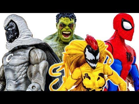 Spider Man ft Nightwing Go~! Defeat Hulk and Venom Poison To Save Kids #Toymarvel