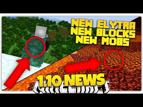 Minecraft 1.10 News | NEW NETHER BLOCKS, NEW POLAR BEAR MOB, NEW ELYTRA! (1.10 Update)