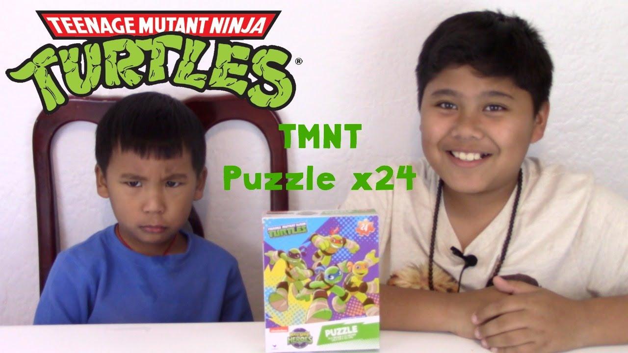 teenage mutant ninja turtles puzzle x24 pieces youtube