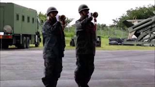 航空自衛隊員によるラッパ演奏  第1高射隊