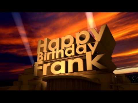 Happy Birthday Frank Cake