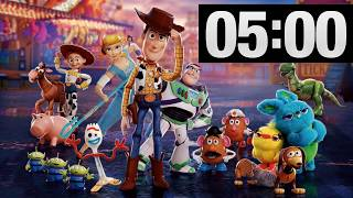 5 Minute Countdown Timer for Kids with Music l Toy Story with Woody, Buzz, Forky, Bo Peep, Aliens