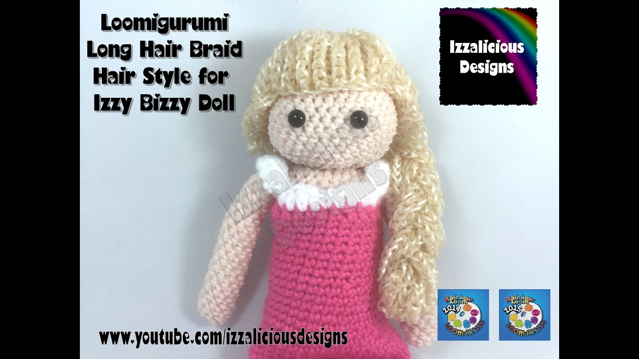 Hair On Amigurumi : Loomigurumi Izzy Bizzy Doll - Long hair with braid - hook ...