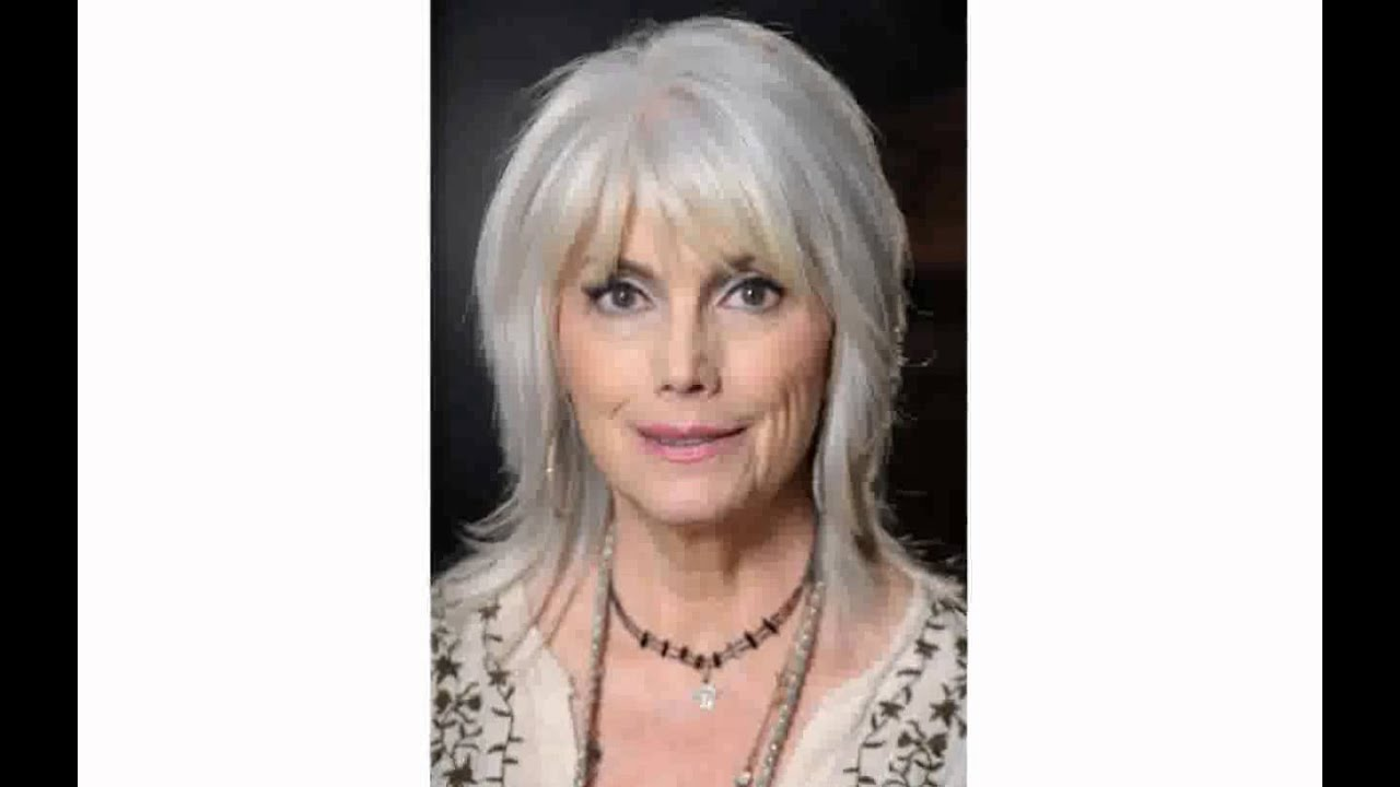 Hairstyles For Grey Hair Women Over 50 Youtube