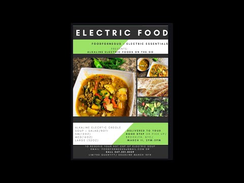 Electric Foods Delivered to Your Door Step (first event )