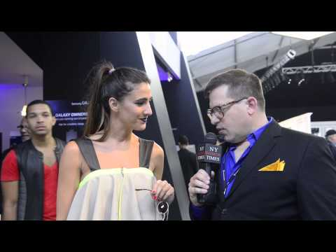 Spanish Designer Beatriz Penalver interviewed at Mercedes Benz NYFW