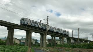 【弘南鉄道】石川陸橋を渡る7031F