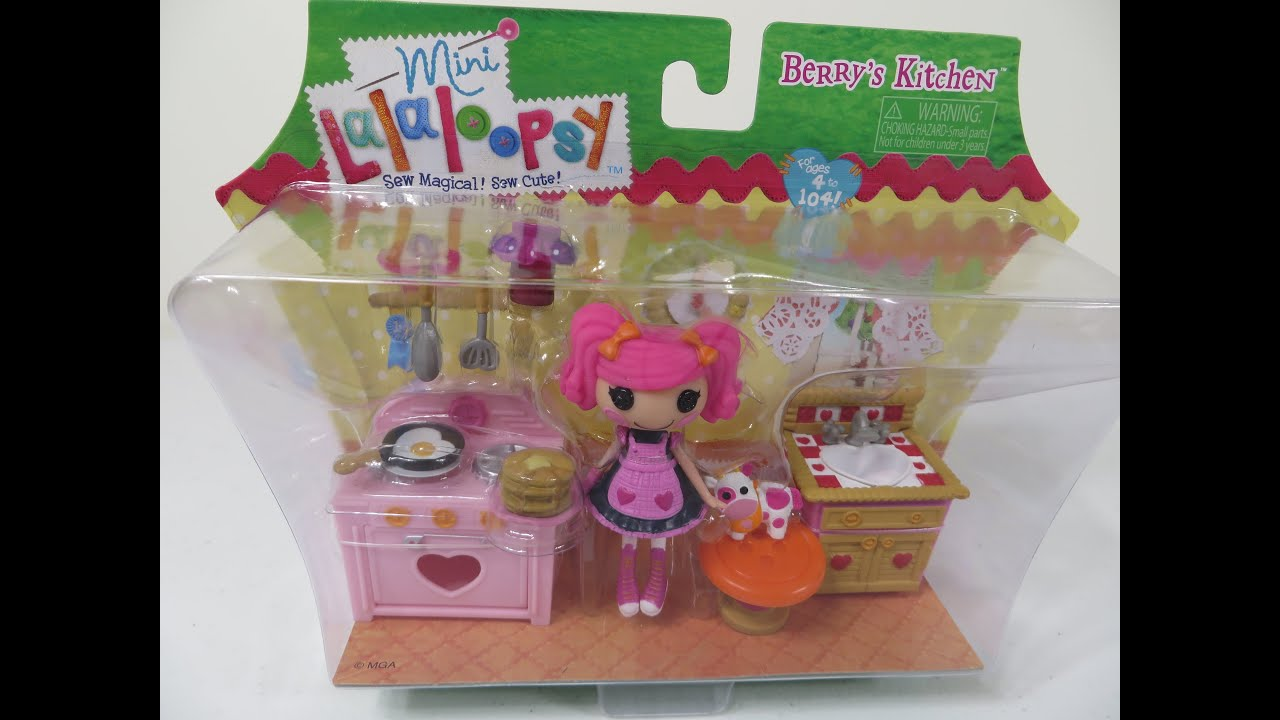 Mini Lalaloopsy Berryu0027s Kitchen Playset Unboxing Toy Review