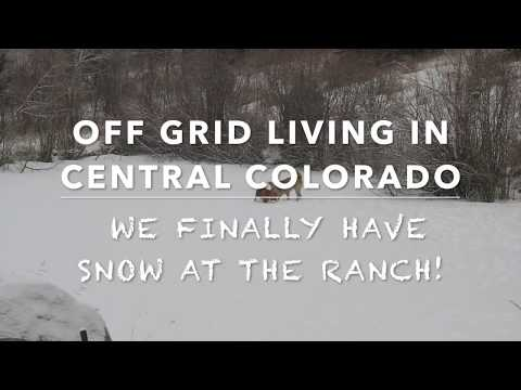 Off Grid Living:  Having Fun in the Colorado Rockies In January