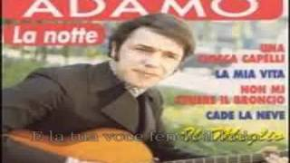 Adamo Salvatore karaoke- La Notte