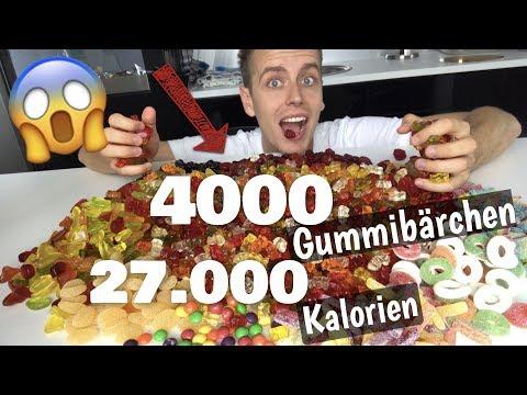 Ich schmelze 4000 Gummibärchen ein // 27.000 Kalorien !! 😱 | Julienco