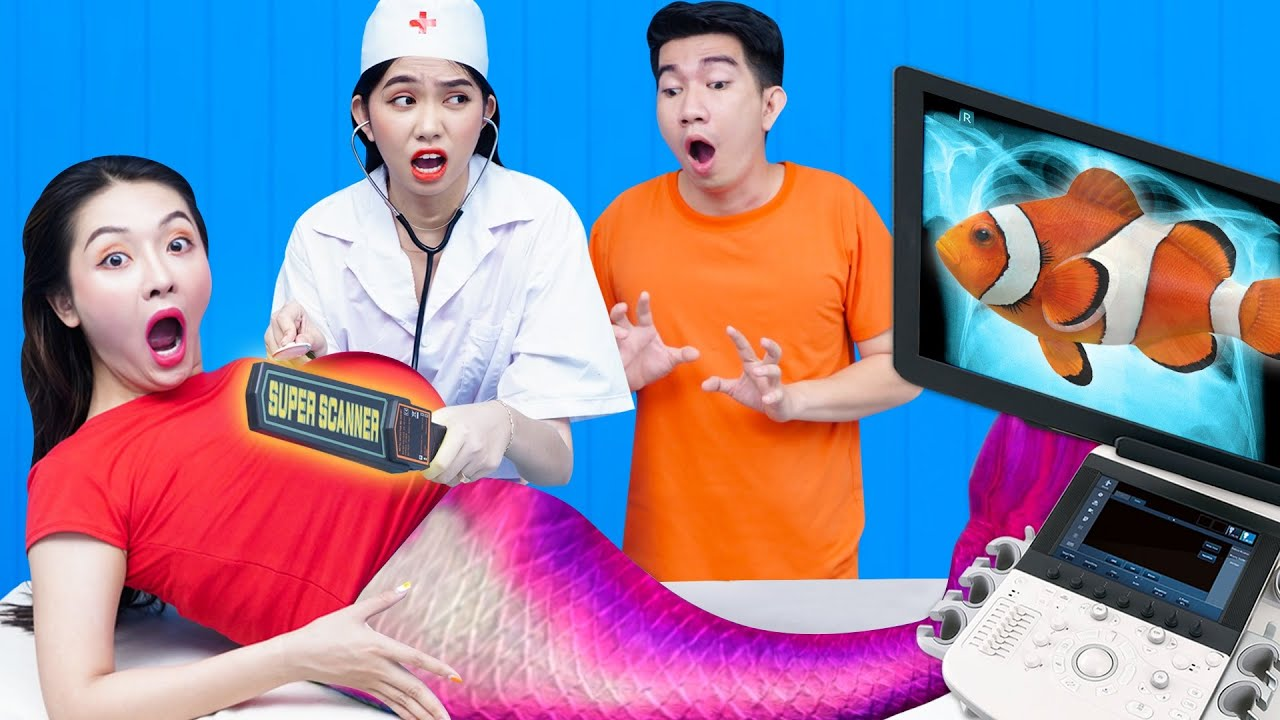 Thử Thách Mang Bầu 24 Giờ   Chuyện Nàng Tiên Cá Mang Bầu Hài Hước Bởi T-STUDIO VIỆT NAM