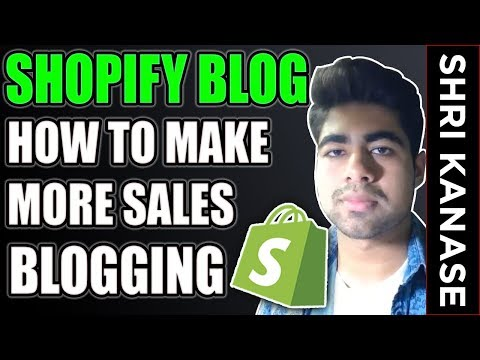 Shopify FULL Blogging Tutorial 2019 | EXPLODE Your Aliexpress Dropshipping Store Sales thumbnail