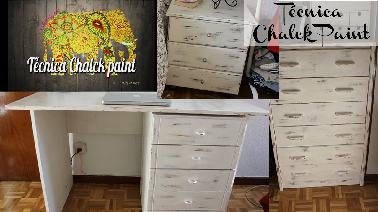 Tutorial diy c mo realizar la t cnica chalk paint youtube - Tecnicas de pintar muebles ...