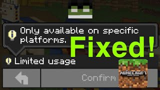 Minecraft SKIN pocket edition mobile Limited Usage HOW TO FIX EASY!
