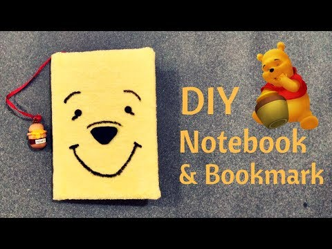 DIY Winnie The Pooh Notebook And Honey Pot Bookmark