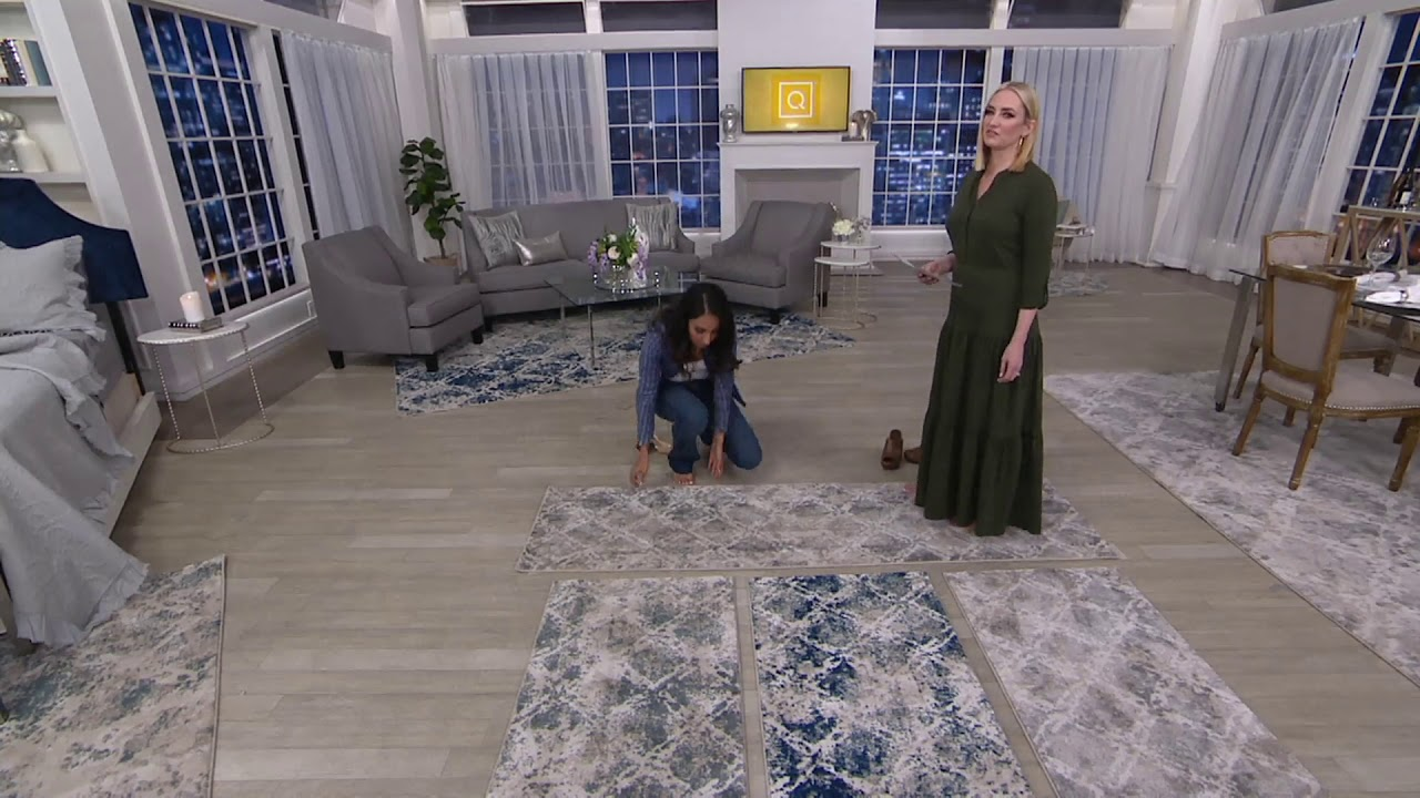 Inspire Me Home Decor Shadow Rug On Qvc Youtube