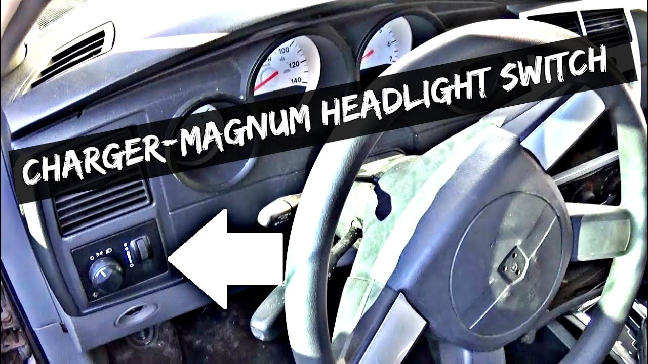 medium resolution of dodge charger magnum headlight switch replacement and removal