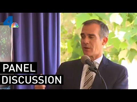 LA Mayor Eric Garcetti Mayor Hosts Panel Discussion on Homelessness | NBCLA