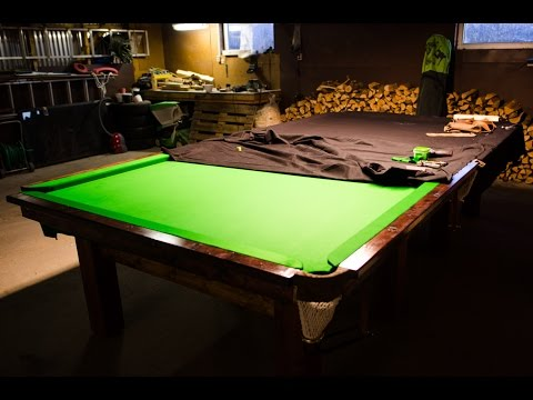 Full size SNOOKER TABLE built at home!