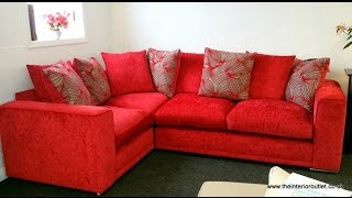 Brand New Luxury Quality Red Corner Sectional Sofa - Only £599 - Rrp £1799!