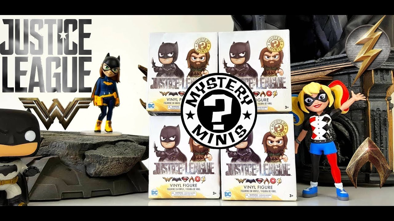 99bec6c9a04 Justice League Funko Mystery Minis - YouTube