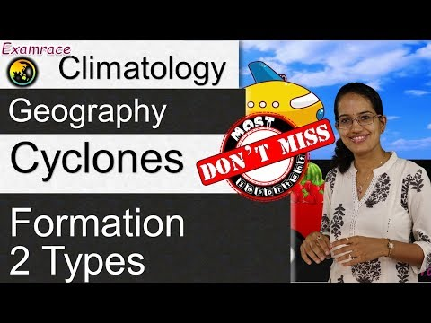 Cyclones, Formation & its 2 Types