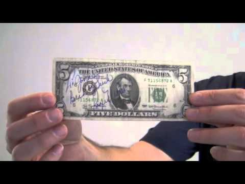 five dollar haircut roger maris signed 5 dollar bill cut signature jsa 3704