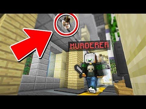 THE ULTIMATE MINECRAFT MURDER MYSTERY HIDING SPOT!