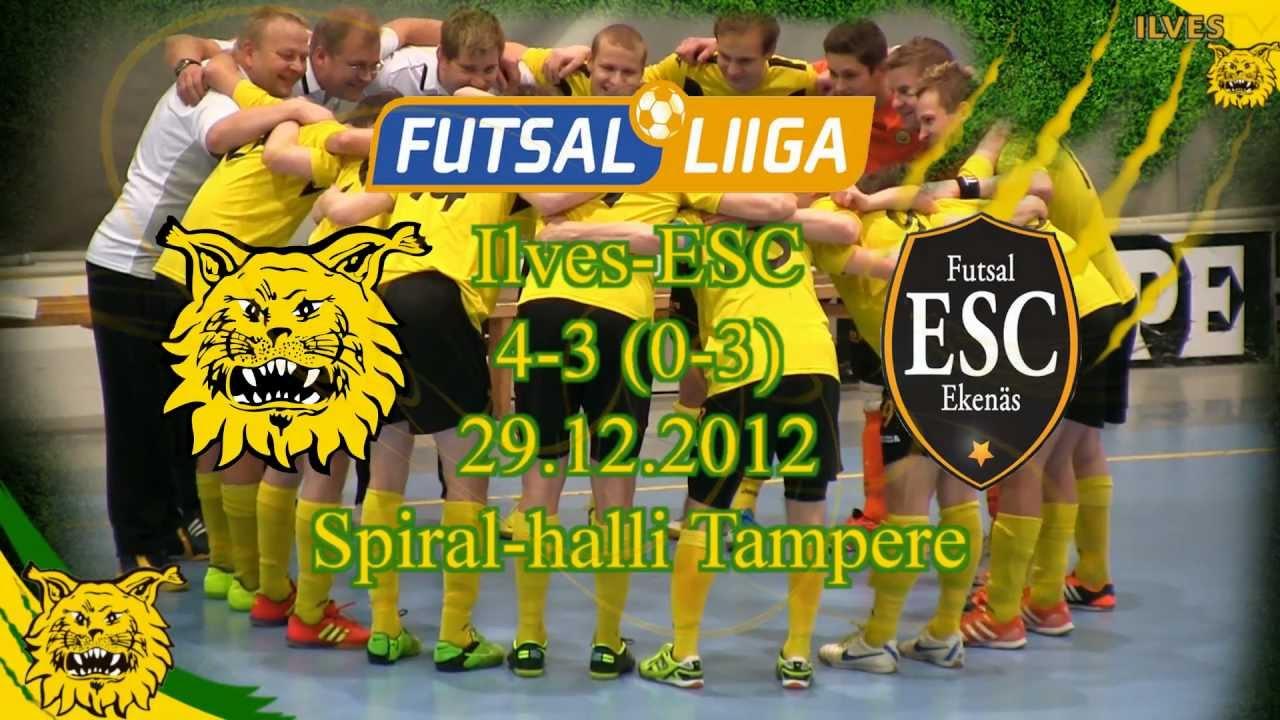 Ilves FS-ESC 4-3 (0-3) Futsal-Liiga 29.12.12 maalikooste - YouTube