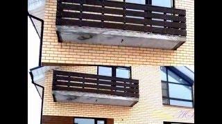 Концепция балкона в частном доме: отделка дерево+металл/balcony wood trim(Вариант отделки балкона частного дома. Несущий каркас из профильной трубы: стойки 60х60, подперильная балка..., 2016-04-21T18:08:42.000Z)