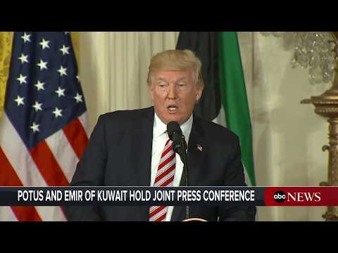 President Donald Trump holds joint news conference with emir of Kuwait
