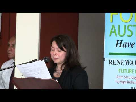 Andrea Ho - Introduction - Renewable Energy Future of Canberra