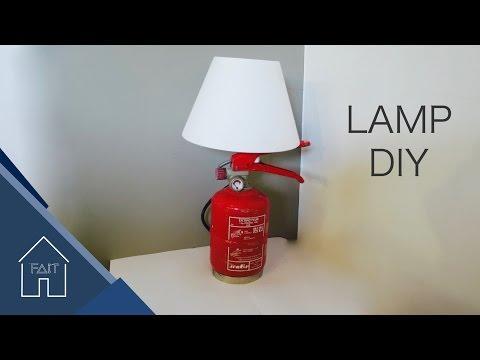 Fire extinguisher Lamp - DIY