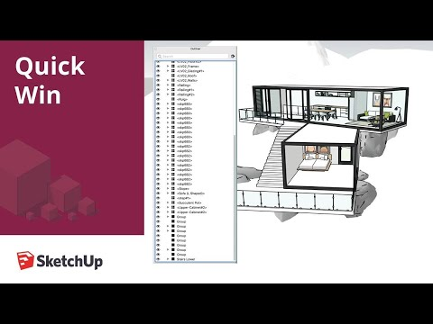 Toggling Visibility in Outliner SketchUp Pro 2020 - Quick Win