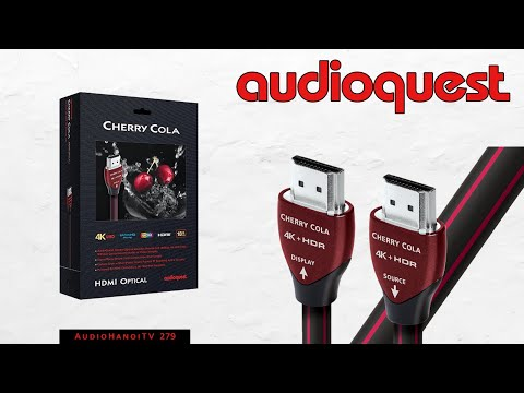 AudioHanoiTV] Số 279: Review Dây AudioQuest HDMI Cherry cola