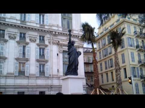 Statue of Liberty #NewYork, France remembers gift at Nice French Riviera 2014