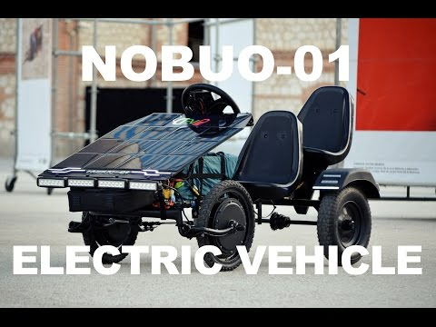"Solar assisted Nobuo-01 electric vehicle ""DIY e-kart"" (72V, 3kW, 2kWh)"