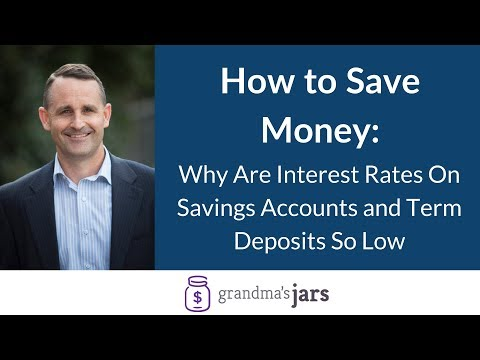 Why are interest rates on Savings accounts and term deposits so low?